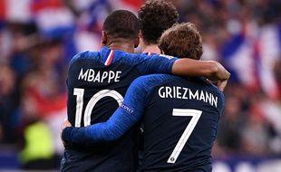 Mbappé et Griezmann lors de France-Allemagne en octobre 2018.