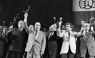 François Mitterrand lors de sa campagne de 1981
