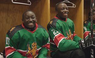 Des membres de l'équipe de hockey sur glace du Kenya
