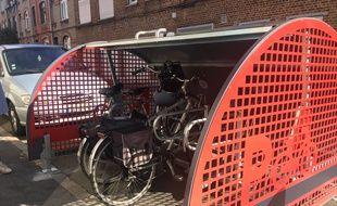 Voilà à quoi ressemblent les nouveaux box à vélo lillois