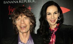 L'Wren Scott  et Mick Jagger pour le lancement de la collection de la styliste avec Banana Republic.