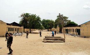 L'école de Chibok le 21 avril 2014 où ont été enlevées 200 jeunes filles par Boko Haram
