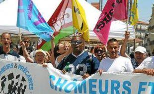 Social - Chômeurs et précaires s'élancent ce lundi 17 juin 2013 depuis la Comédie  La longue marche de ceux qui en ont plein les bottes