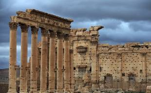 Photo prise le 14 mars 2014 du temple de Bêl dans l'antique cité de Palmyre.
