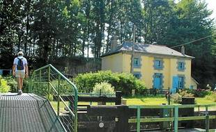A Montreuil-sur-Ille, la maison éclusière Haute-Roche n'est plus utilisée.