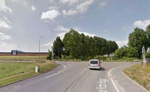 Le carrefour où s'est passé l'accident à Trith-Saint-Léger.