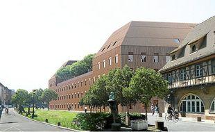 Le futur bâtiment du PAPS du PCPI dans l'enceinte de l'Hôpital civil à Strasbourg.