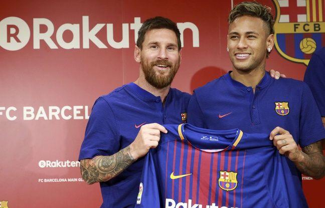 Lionel Messi et Neymar le 13 juillet 2017 à Tokyo.