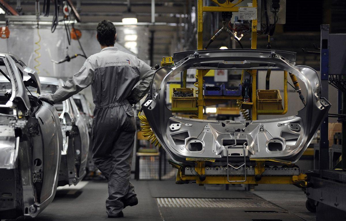 Illustration d'une chaîne de montage d'une usine automobile. – SEBASTIEN BOZON / AFP