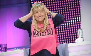 """Christine Bravo dans l'émission """"Panique dans l'oreillette"""" sur France 2 en 2009"""