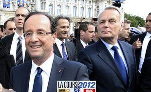 François Hollande et Jean-Marc Ayrault le 15 mai 2012, jour de l'investiture du président de la République.