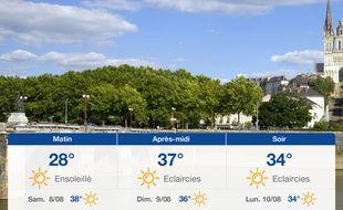 Météo Angers: Prévisions du vendredi 7 août 2020
