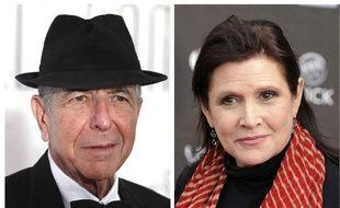 Leonard Cohen et Carrie Fisher.