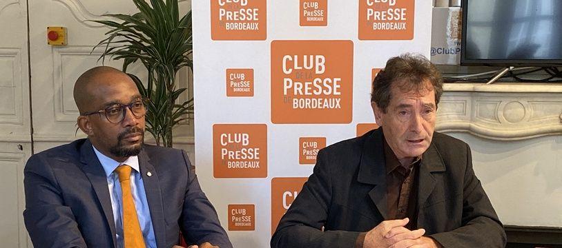 Patrick Serres, président de Mémoires & Partages (à droite) et Karfa Sira Diallo, fondateur-directeur de l'association.