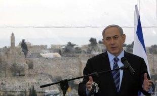 Le Premier ministre israélien Benjamin Netanyahu à Jérusalem le 23 février 2015