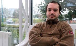 François Lambert, le neveu de Vincent Lambert, à Reims le 16 janvier 2014