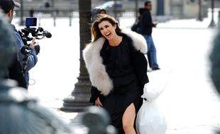 """Tournage Hotel Crillon du clip avec Mademoiselle Agnes pour la femme """"La femme Nina Ricci""""."""