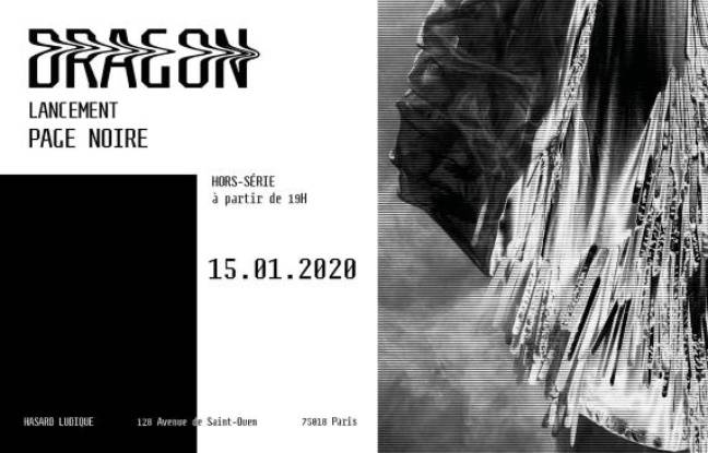 Visuel de la soirée de lancement du hors-série Dragon par le magazine Page Noire