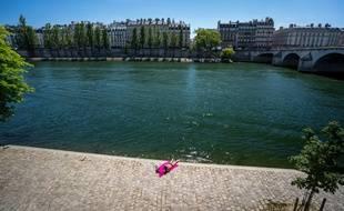 A Paris, durant une vague de chaleur à l'été 2020.