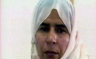 L'Irakienne Sajida al-Rishawi, dans une image diffusée le 13 novembre 2005 par la télévision jordanienne