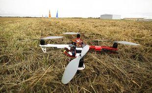 Illustration d'un drone à terre.