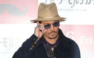 Johnny Depp, le 28 janvier 2015, à Tokyo.