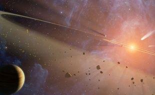 Le système Epsilon Eridiani, vue d'artiste.
