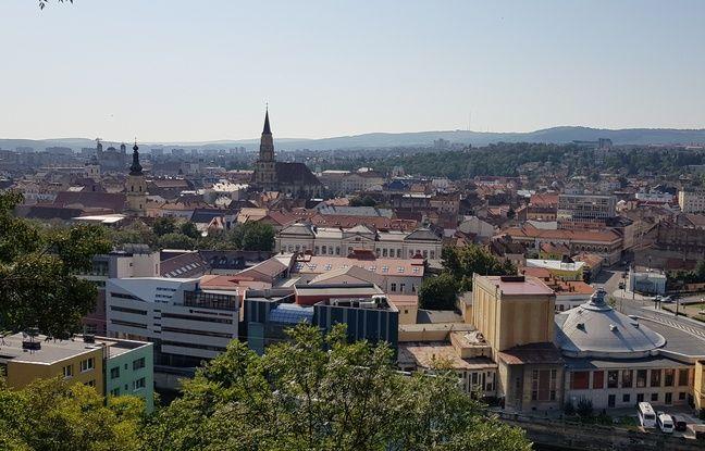 Vue de la ville de Cluj (Roumanie).