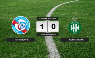 RC Strasbourg - ASSE: Le RC Strasbourg vainqueur de l'ASSE 1 à 0 au stade de la Meinau