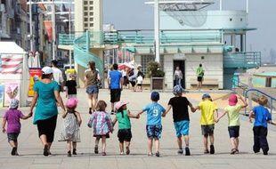 Des enfants à Malo-les-Bains, le 25 juillet 2013