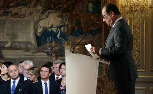 Le président François Hollande lors de sa conférence de presse à l'Elysée le 7 septembre 2015