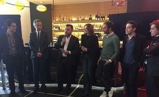 L'équipe de Canal+ lors de la présentation