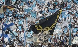Des supporters de l'OM lors de la finale de Ligue Europa, illustration.