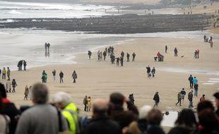 Une véritable marée humaine a déferlé sur la grande plage de Biarritz, le 21 mars 2015.