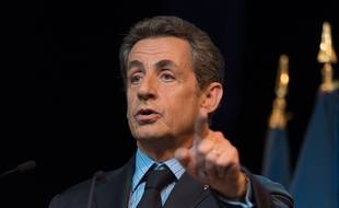 Le président du parti Les Républicains Nicolas Sarkozy, le 10 juin 2015 à Puteaux.