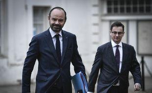 Le Premier ministre Edouard Philippe à l'hôtel de Matignon le 27 mars 2018.
