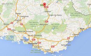 Google map de Laragne, dans les Hautes-Alpes.