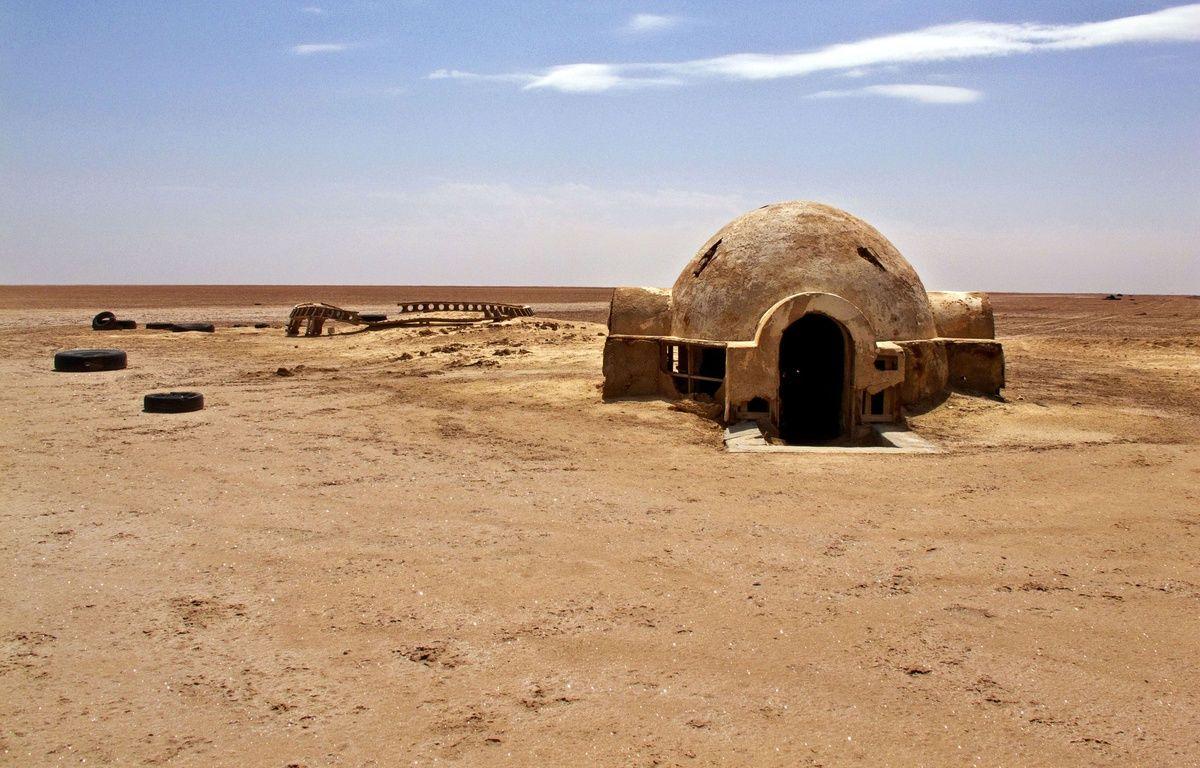 Les décors abandonnés de l'épisode IV de la saga Star Wars, tourné en 1976 dans le désert de Tataouine en Tunisie. –  CATERS NEWS AGENCY/SIPA