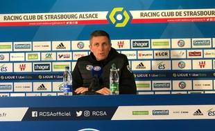 Thierry Laurey en conférence de presse ce mardi.
