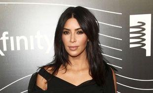 Photo d'archives du 16 mai 2016 montrant Kim Kardashian West à son arrivée aux 20e Webby Awards à New York.