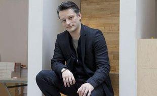 Hugo Horiot, auteur de «L'empereur, c'est moi», un livre dans lequel il revient sur sa maladie, le 28 mars 2013 à Paris.