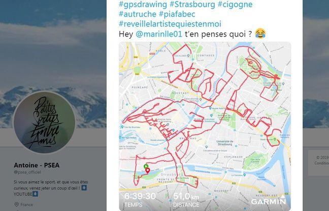 Strasbourg: Un jeune coureur se fade 51 bornes pour dessiner une cigogne avec son GPS