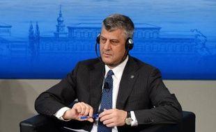 Le Premier ministre du Kosovo Hashim Thaci à Munich le 2 février 2014. En tant qu'ex-chef de la guérilla, il est mis en cause dans un rapport du Conseil de l'Europe faisant état d'exactions commises durant le conflit serbo-kosovar (1998-1999)