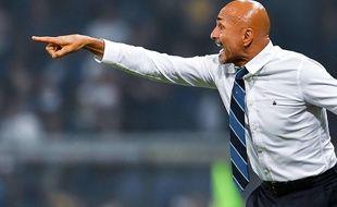 Luciano Spalletti, l'entraîneur de l'Inter Milan, lors du match de Série A contre la Sampdoria, le 22 septembre 2018.