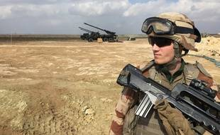 Un soldat français de l'opération Inherent Resolve en Irak.