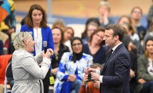 Emmanuel Macron s'est rendu à un débat à Pessac, près de Bordeaux, le 28 février 2019.