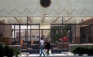 L'ambassade des Etats-Unis à Sanaa, au Yémen, le 11 juin 2001.