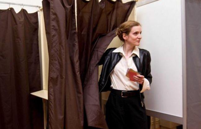 Nathalie Kosciusko-Morizet a voté à Longjumeau, dans l'Essonne, le 17 juin 2012.