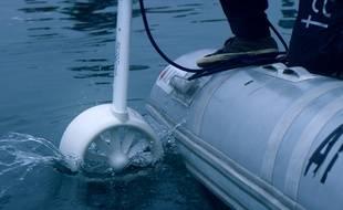 Pendant un mois, la petite turbine hydroélectrique a été immergée dans le golfe du Morbihan.