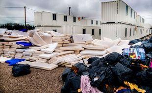 Les décombres dans la jungle de Calais, évacuée en novembre 2016.